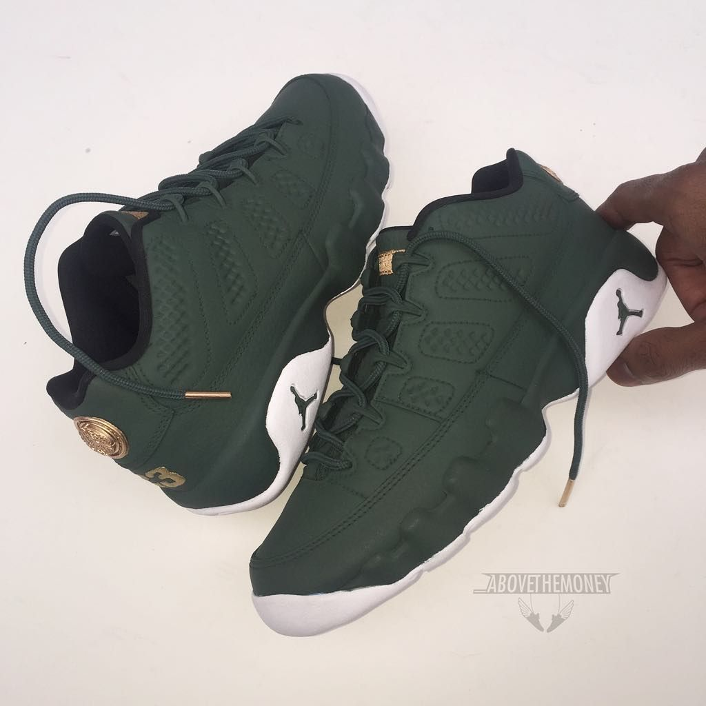 c787543ff198 ... greece air jordan 9 low olive gold custom jordans man shoes sneaker  heads b63f1 83e58