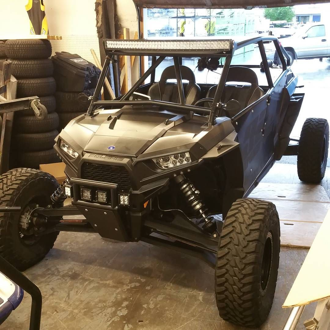 Clems Powersports Matte Black Raced Out Rzr This Build Is Fast