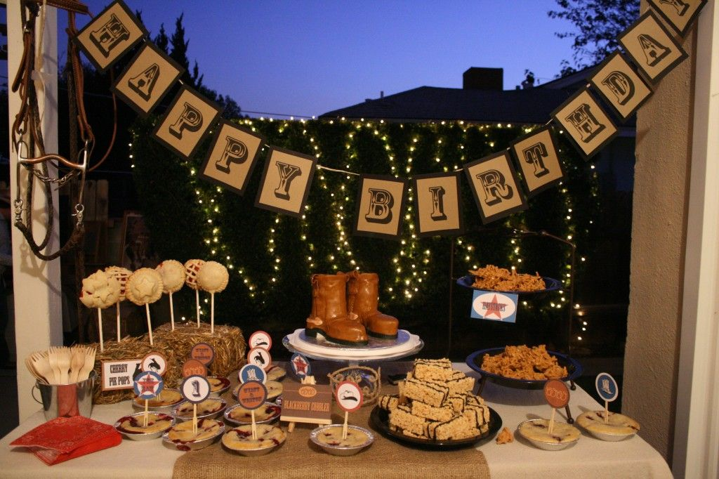 Marigold Mom Rustic Western Cowboy 1st Birthday Party Twin Boys