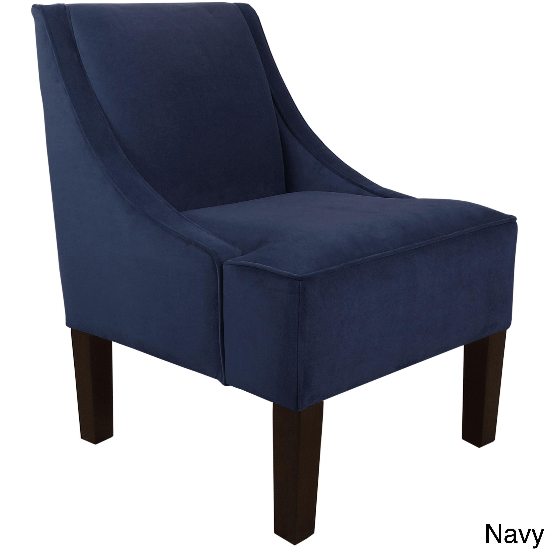 Skyline Furniture Velvet Fabric Accent Chair Velvet White In 2019