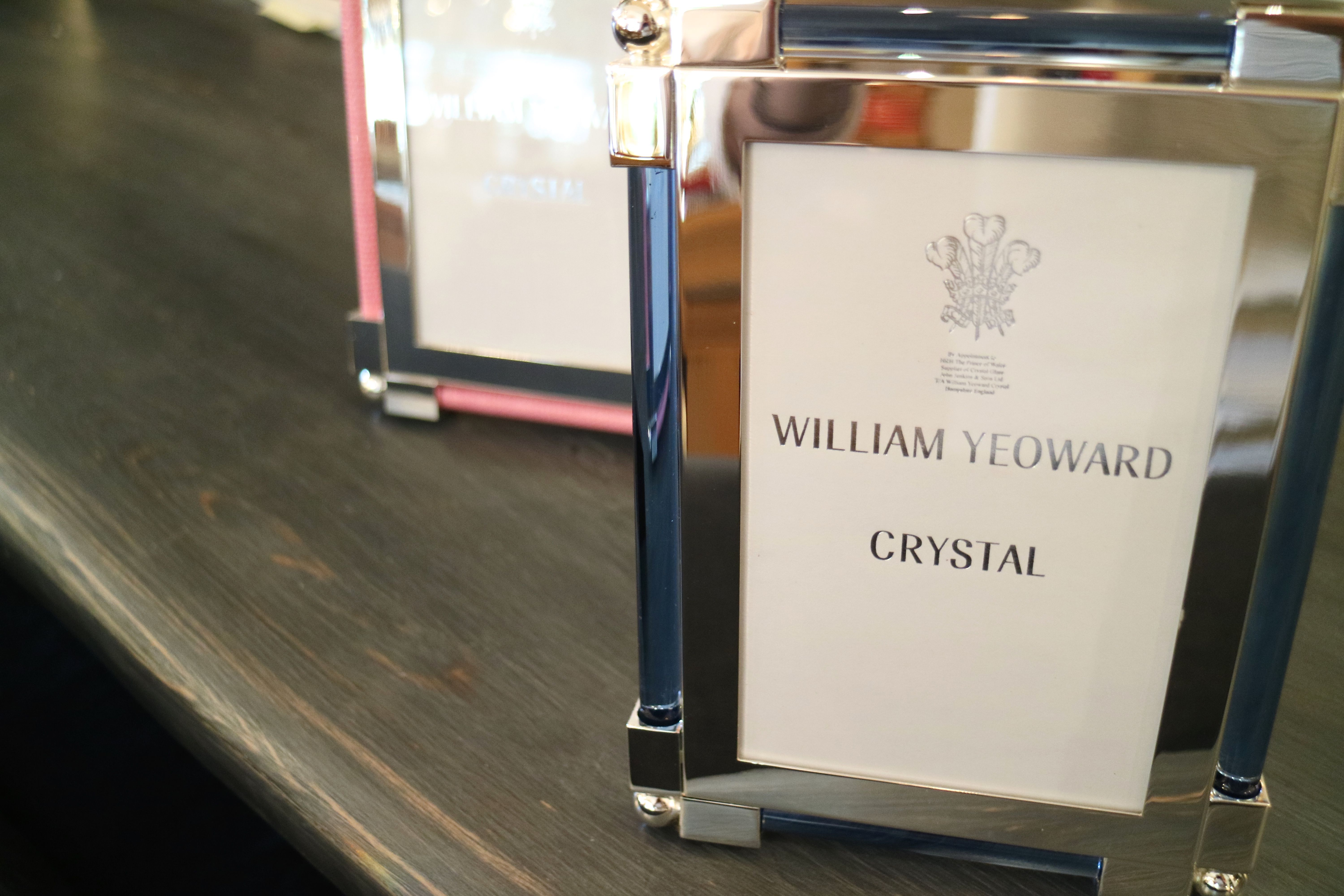 We love William Yeoward Crystal frames. Shop the store located in downtown Sarasota.  100 Central Ave, Sarasota, Florida www.peckysrq.com