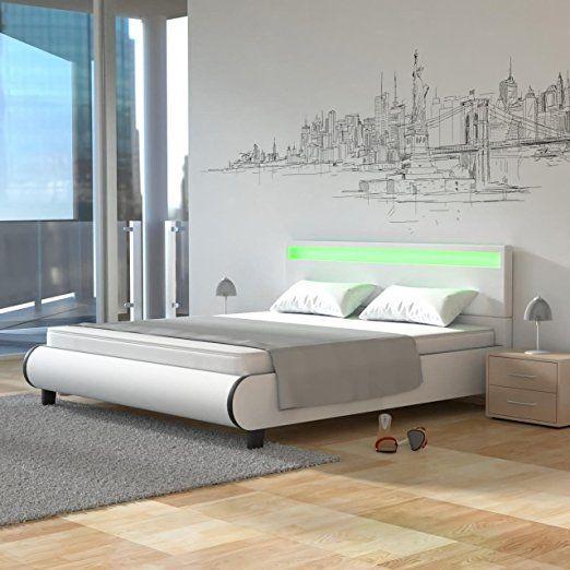 Homelux LED Bett Polsterbett Kunstlederbett Doppelbett Bettgestell - küchen dänisches bettenlager
