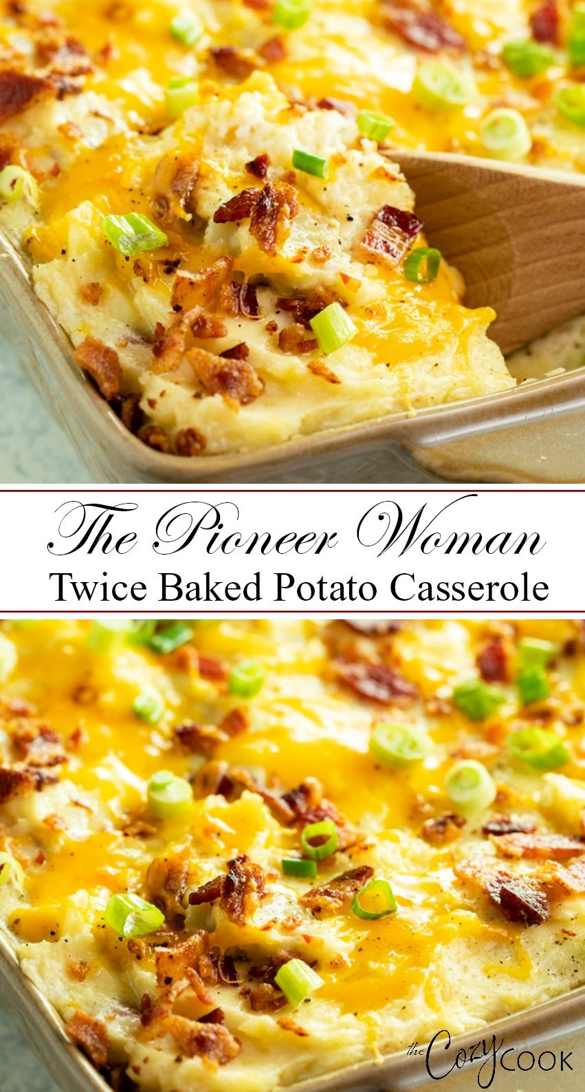 Twice Baked Potato Casserole #dinnersidedishes
