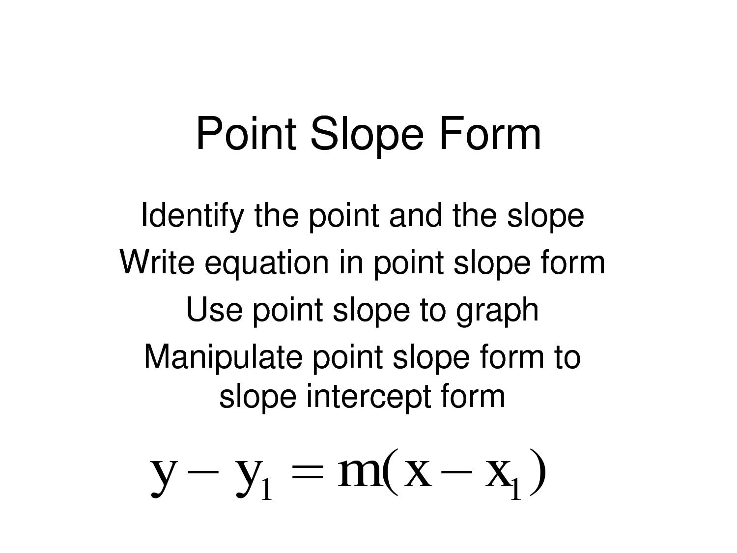 Point Slope Form Go Down Deep Enough Into Anything And You Will