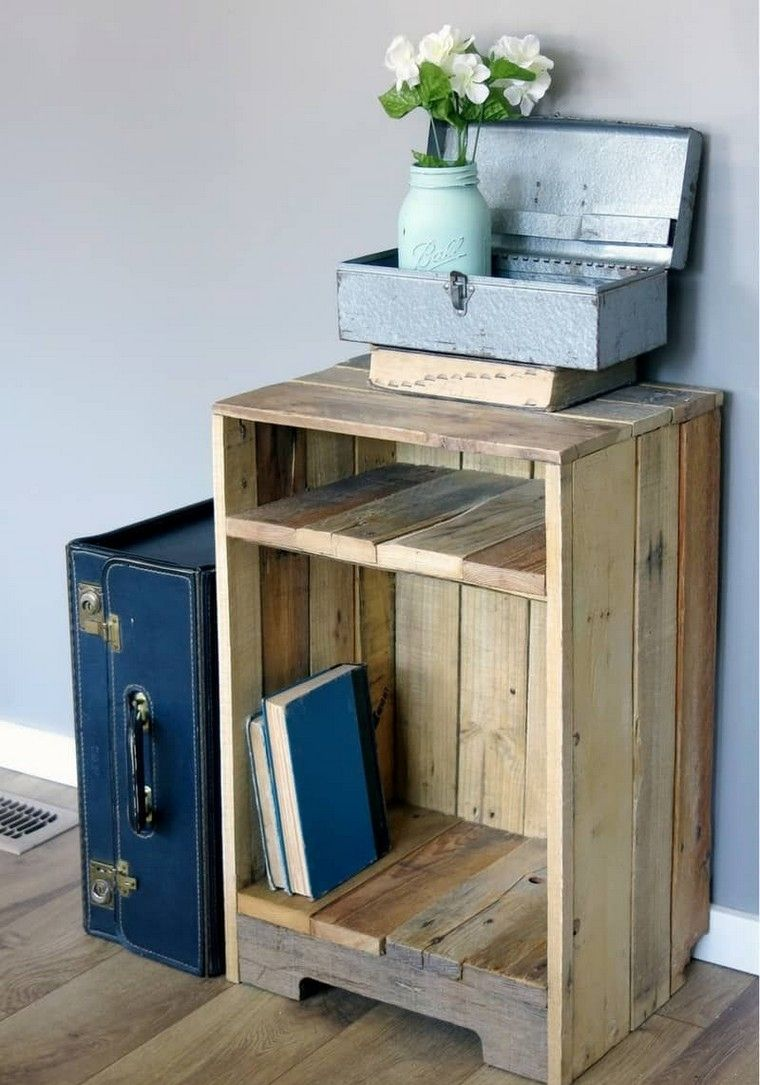 idée meuble rangement bois palette projet   Wooden pallet projects ...