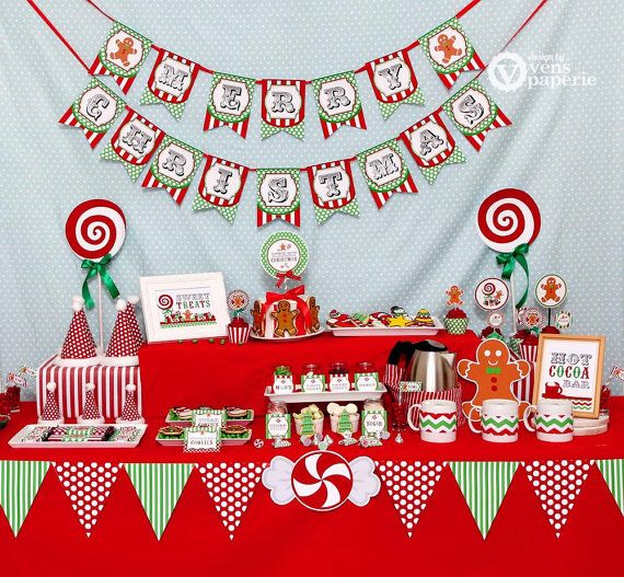 Christmas Sweet Shoppe Holiday Party - DIY PRINTABLE Decoration ...