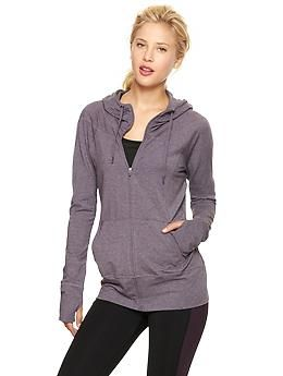 $30 thru 11/2/13. #GapFit Breathe #hoodie | #Gap. #yoga #health #fitness #gear #workout #exercise #Pilates #trx #spin #zumba #tabata #hiit #sunday #postworkout
