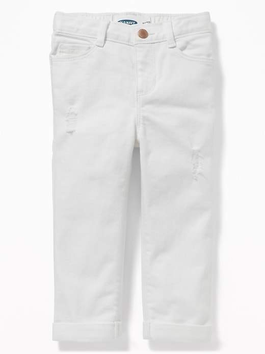 Old Navy Boyfriend Distressed White Jeans For Toddler Girls White Jeans Girls White Distressed Jeans Old Navy Toddler Girl
