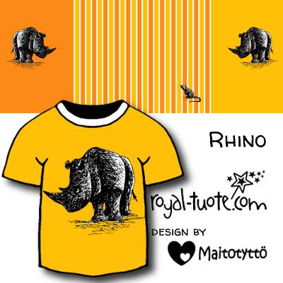 Tulossa Sarvikuono - keltainen (60 cm) - Upcoming Rhino