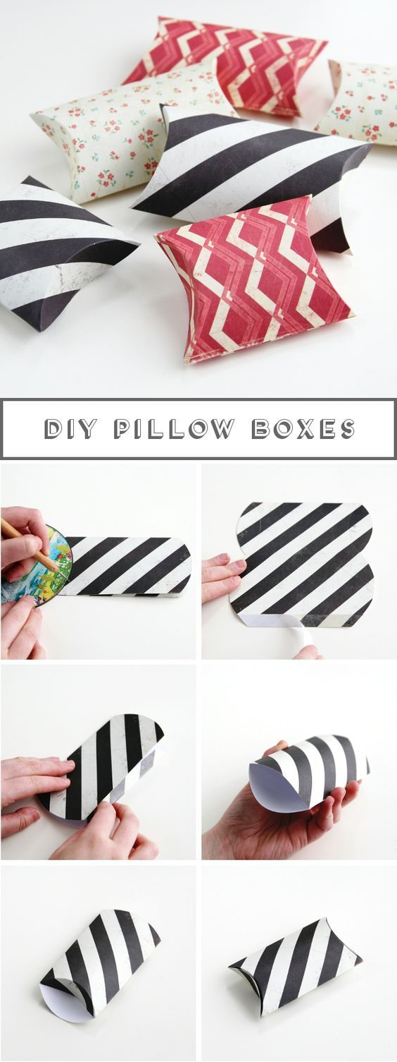 Diy pillow boxes powerpoint design pinterest pillow box