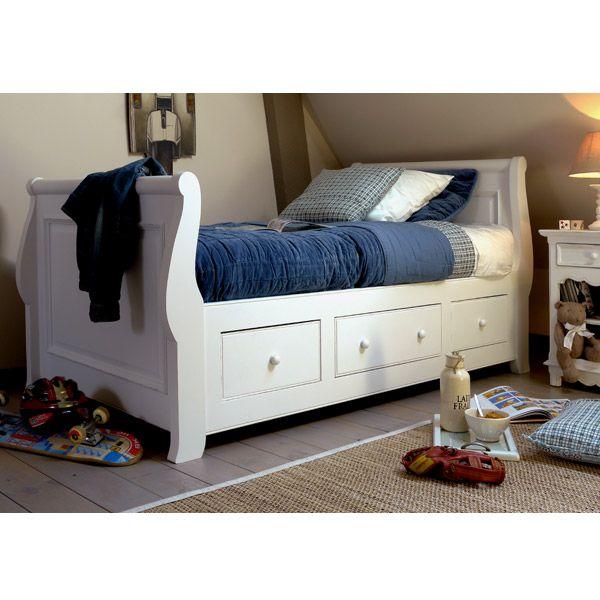 lit bateau tiroirs 90x190 cm avec sommier lattes d coration chambres d 39 enfants pinterest. Black Bedroom Furniture Sets. Home Design Ideas