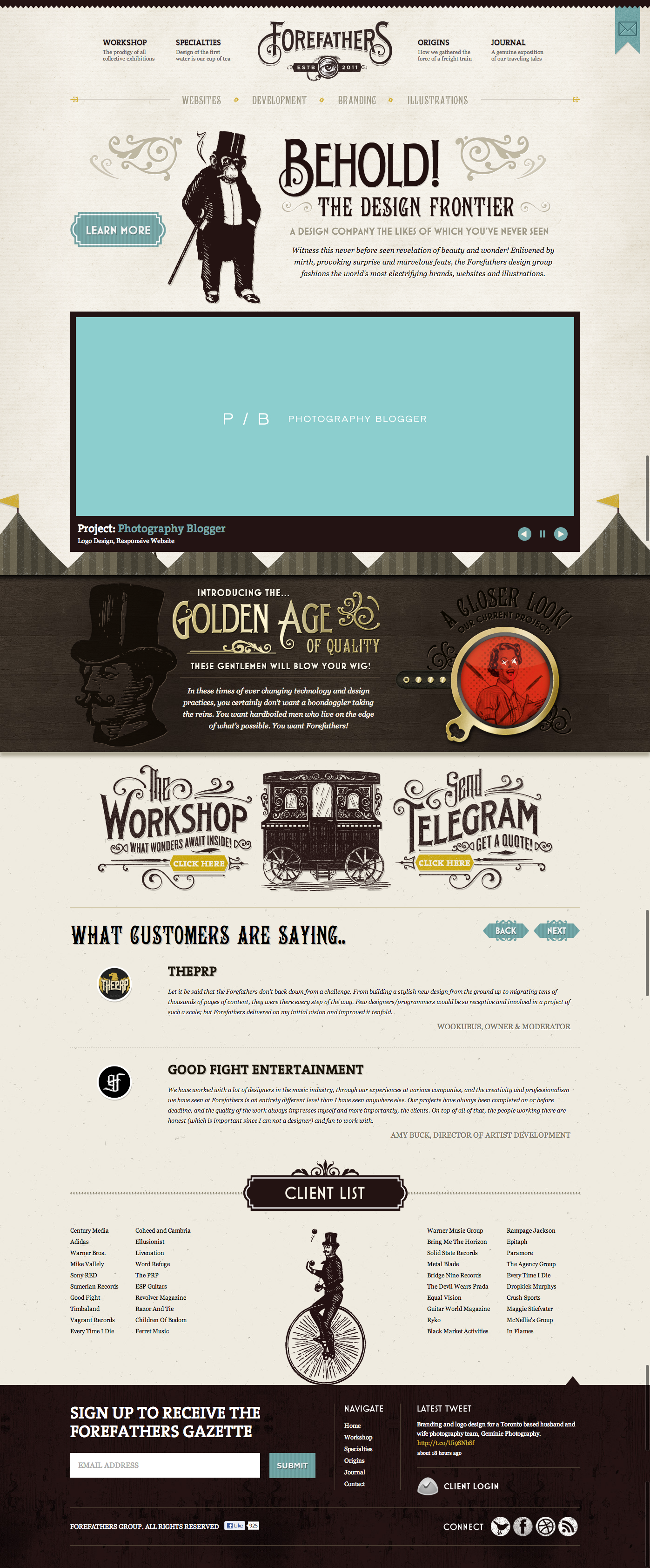 Vintage Circus Themed Website By Forefathers Group Web Design Inspiration Web Design Website
