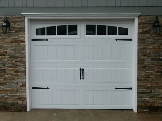 Image Result For Thermacore Garage Door White Black Accent Garage