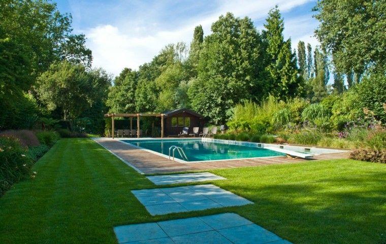 Resultado de imagen de jardines con piscinas grandes | decoracion de ...