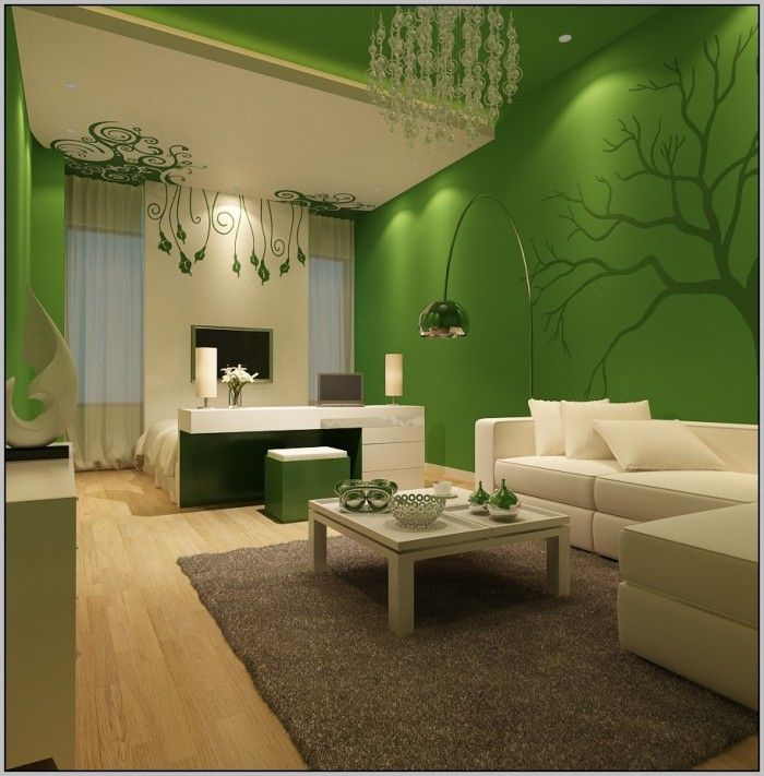 Pin by Miki Solot on Wall color idea Pinterest Wall colors and Walls - wohnzimmer einrichten grun