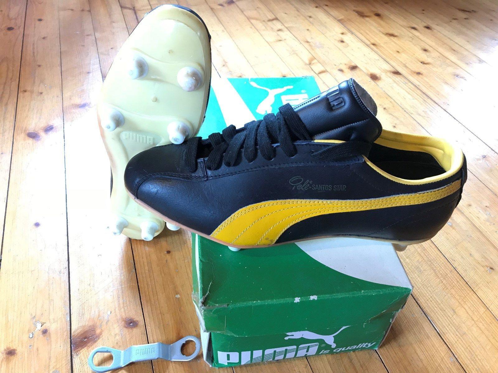 6d7c0cf11 Vintage Puma Pele Santos soccer boots UK 8 Made in West Germany/ Maradona  King | eBay