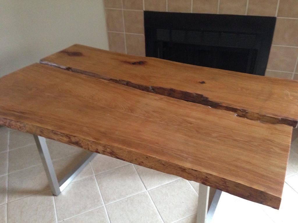 Live Edge Cypress Table From My Hands Pinterest