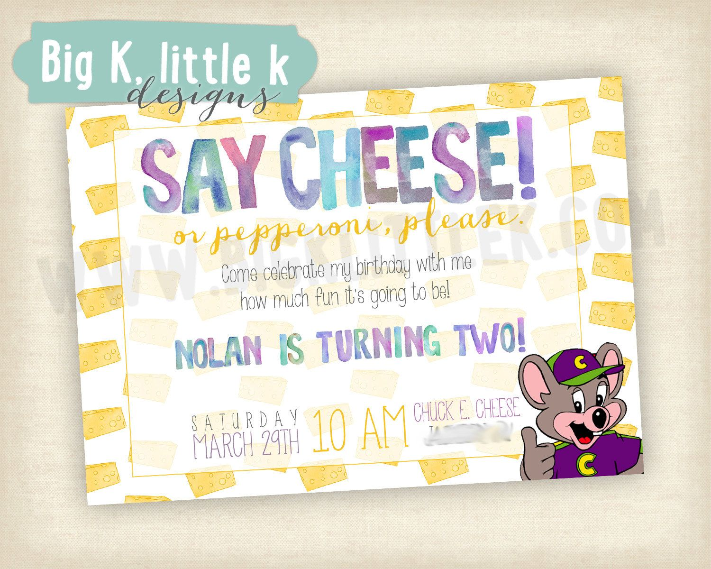 Chuck E Cheese Birthday Invitation By Bigklittlekdesigns On Etsy 10 00 Chuck E Cheese Birthday Boy Birthday Parties Birthday Invitations