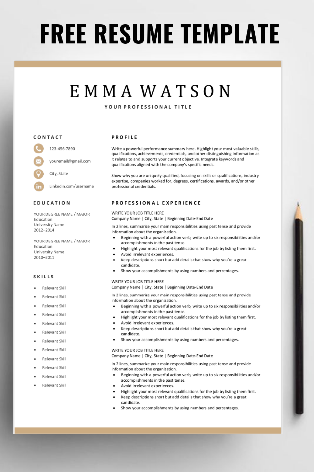 Looking For A Free Editable Resume Template Sign Up For Our Job Search Tip Downloadable Resume Template Resume Template Resume Design Template Microsoft Word