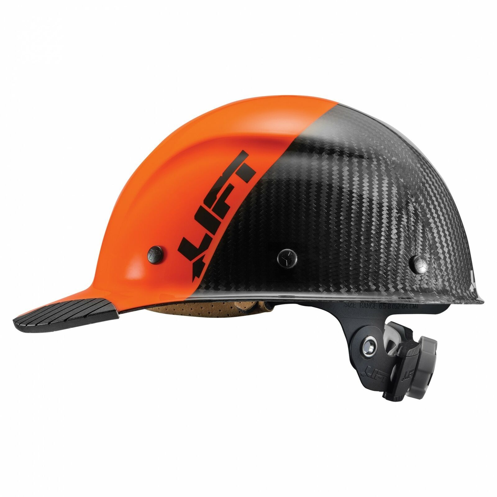 Lift Safety Dax Fifty 50 Hard Hat Carbon Fiber Cap Orange Black Hdc50c 19oc Walmart Com Carbon Fiber Hard Hats Orange Black