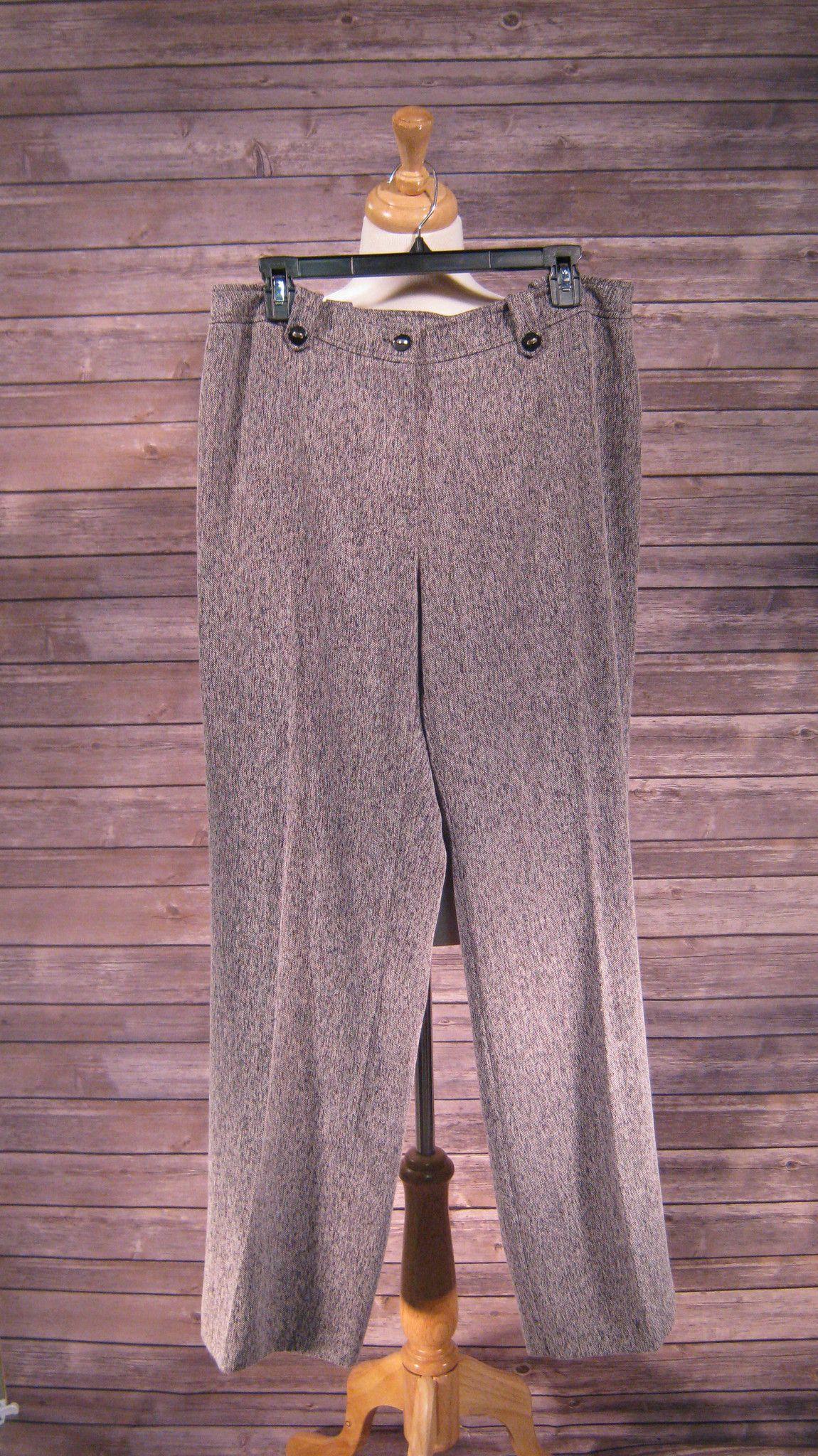 Conrad C Collection Black/White Tweed Dress Pants Size 12