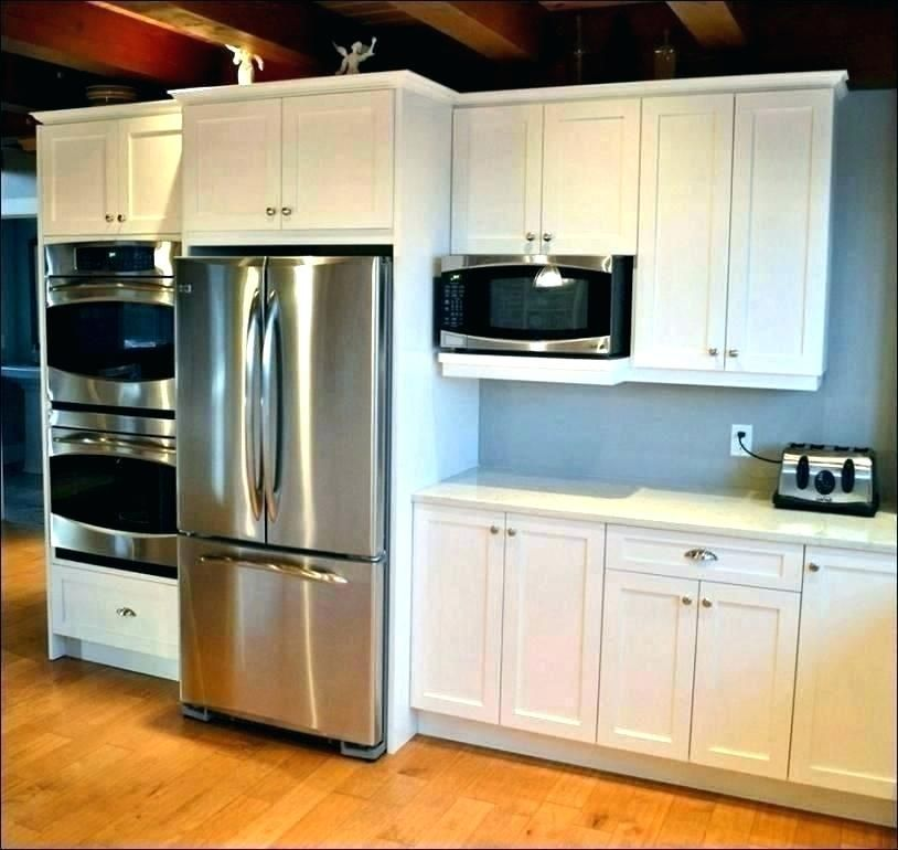 Pin By Bribrekke On Kitchen Microwave In Kitchen Tall Kitchen Cabinets Oven Cabinet