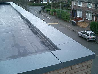 Single Ply Roofing With Aluminium Parapet Flat Roof Extension Roof Construction Roof Cladding