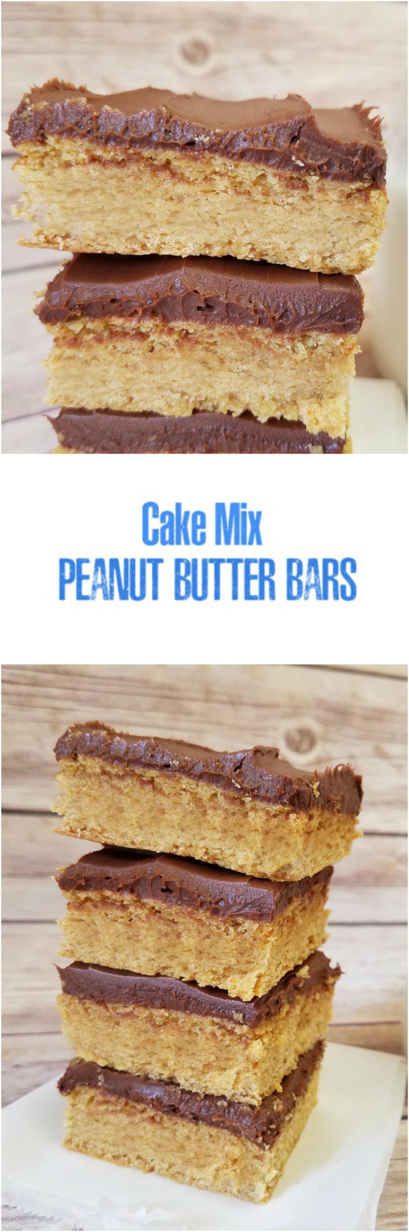 Cake mix peanut butter bars peanut butter bars butter