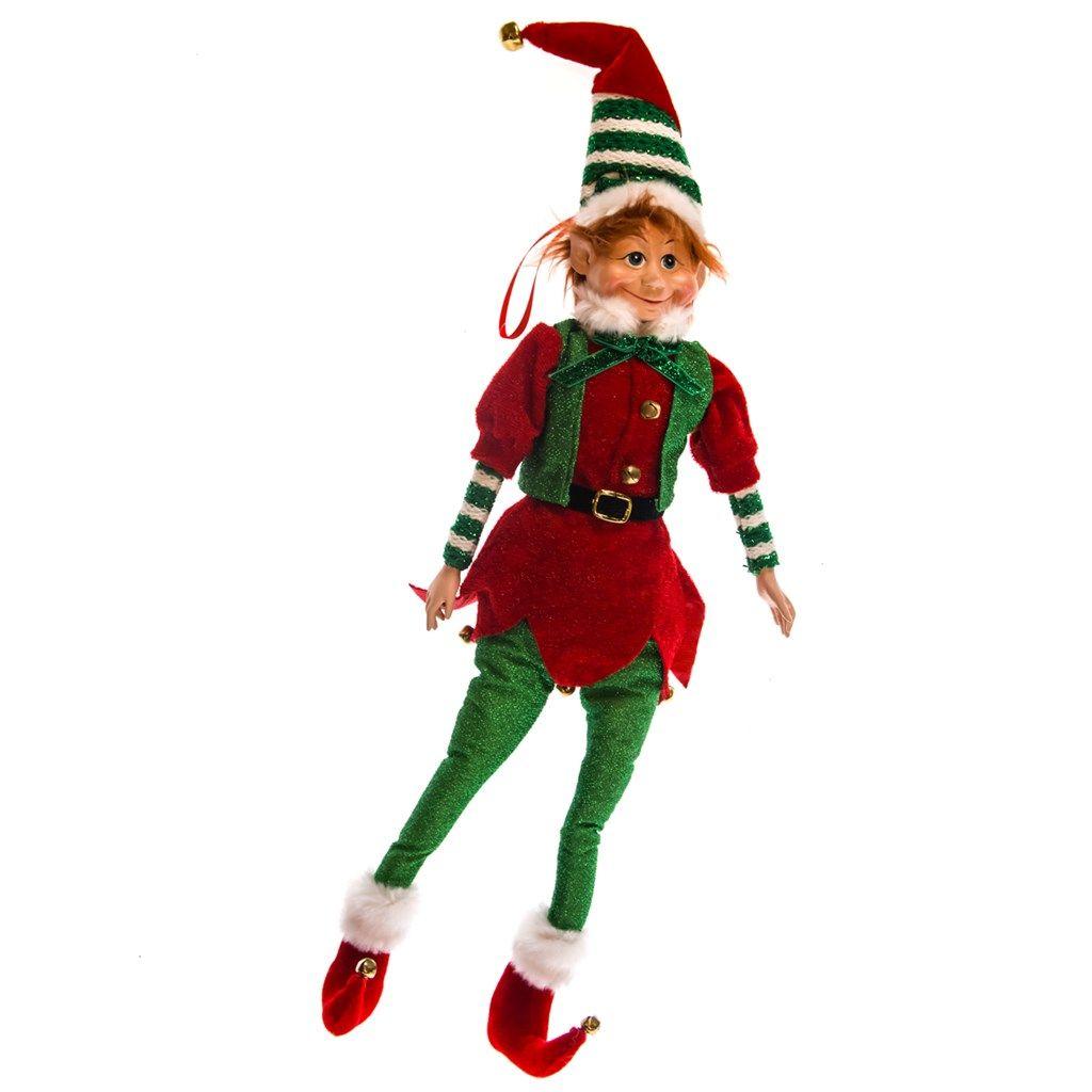 Posable Elf Ornament - Red Hair   Deck the Halls!   Pinterest ...