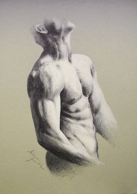 drawing of a naked guy