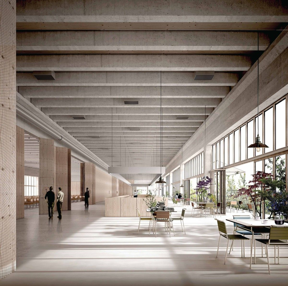 Architecture Interior Design: E2A . FHNW. Basel Competition Entry, 1st Prize Interior