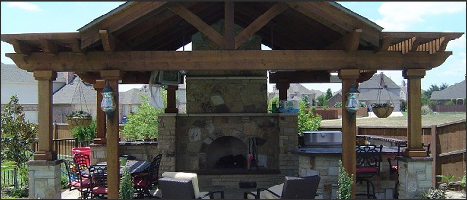 Texas Style Outdoor Room / Kitchen, We like to spend time ... on Dfw Complete Outdoor Living id=64596
