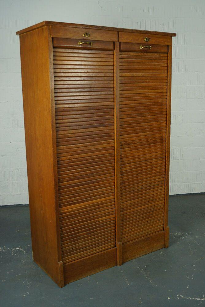 20er Art Deco Rolladen Schrank Regal Schubladenschrank Buro Antik Bauhaus 30er Gunstige Mobel Antike Mobel Schrank Regale