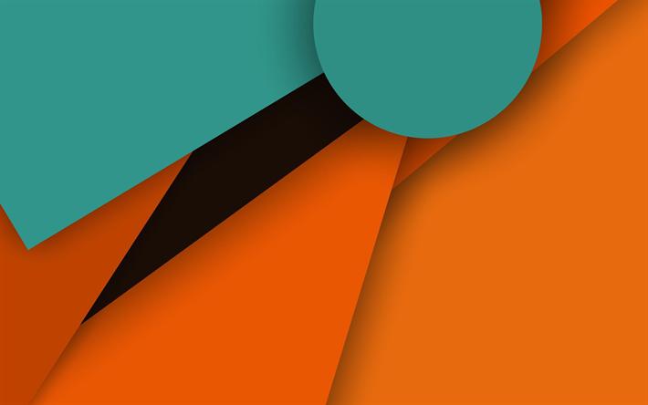 Scarica Sfondi Android Verde E Arancione Il Disegno Del Materiale