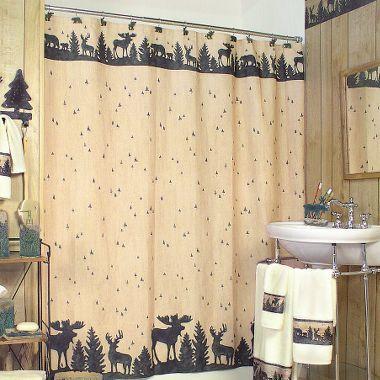 Woodland Silhouette Bathroom Shower Curtain At Cabelau0027s