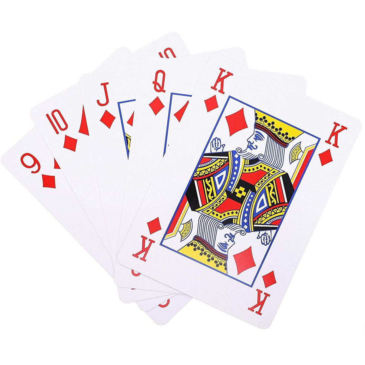 Juvale Super Big Giant Jumbo Playing Cards Full Deck
