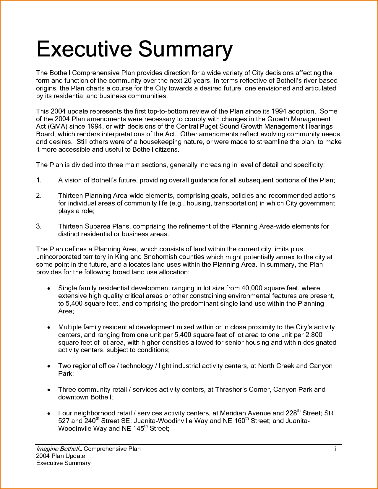 executive summary example incident report template sample professional free documents pdf