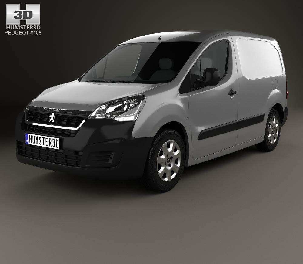 Peugeot partner van 2015 3d model from hum3d com