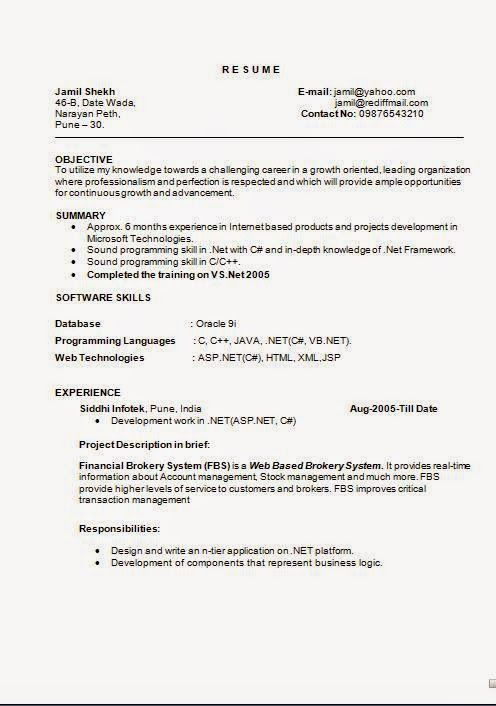 Internship Resume Template Download Free Excellent CV / Resume / Curriculum  Vitae With Career Objective U0026