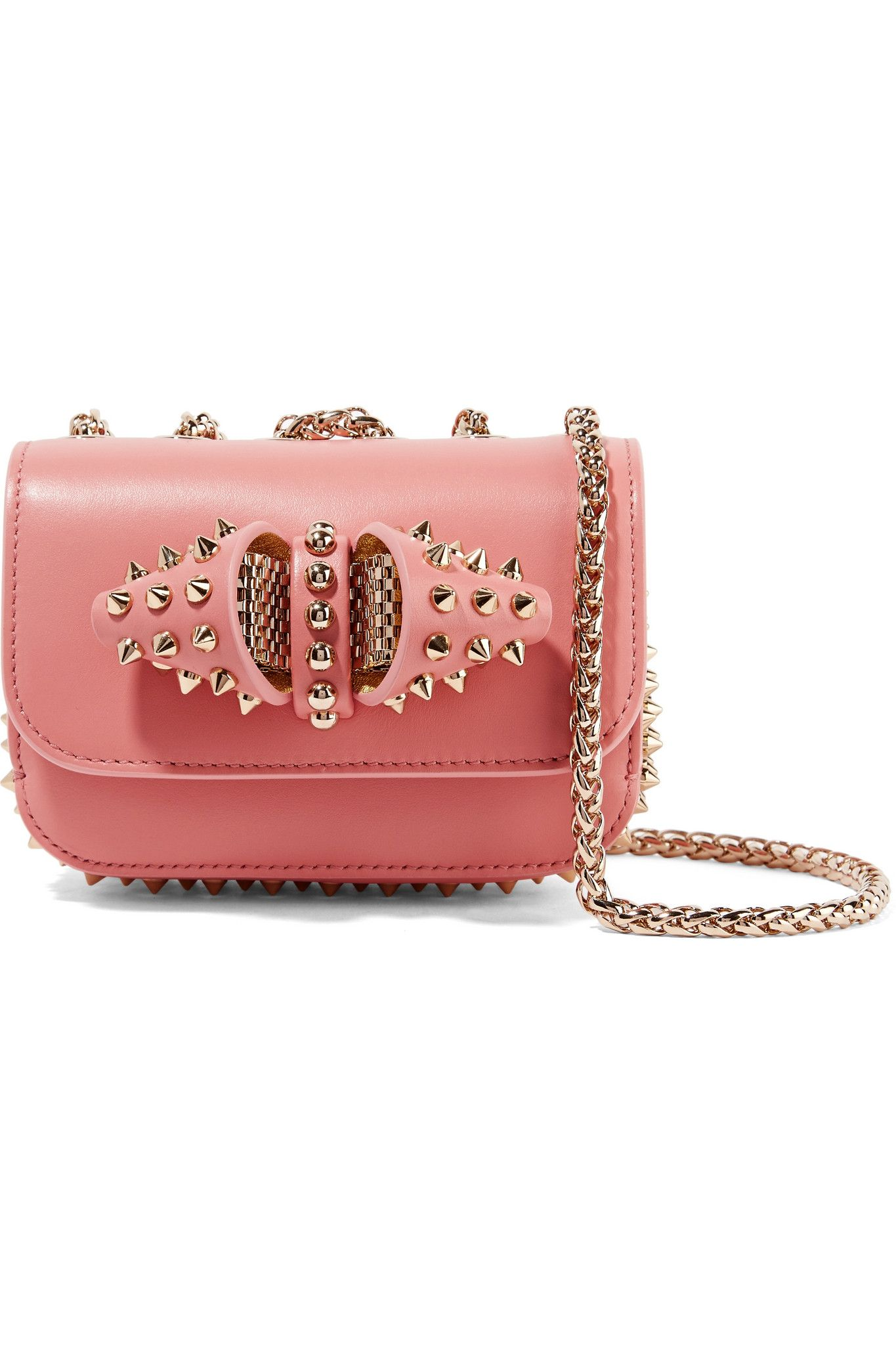 Christian Louboutin - Multicolor Sweet Charity Mini Spiked Leather Shoulder  Bag - Lyst