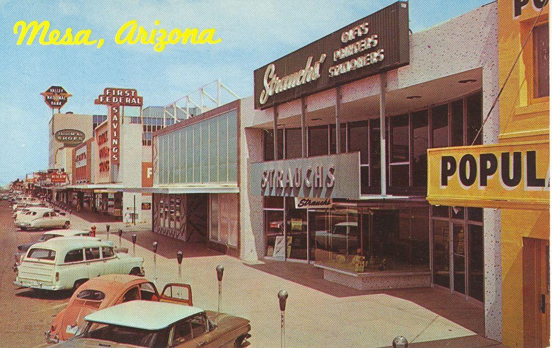 Downtown Mesa, AZ 1960s - home of Lanternland   Arizona