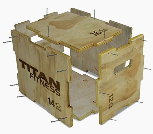 Titan fitness u d u d u d wood plyometric box review by garage gym