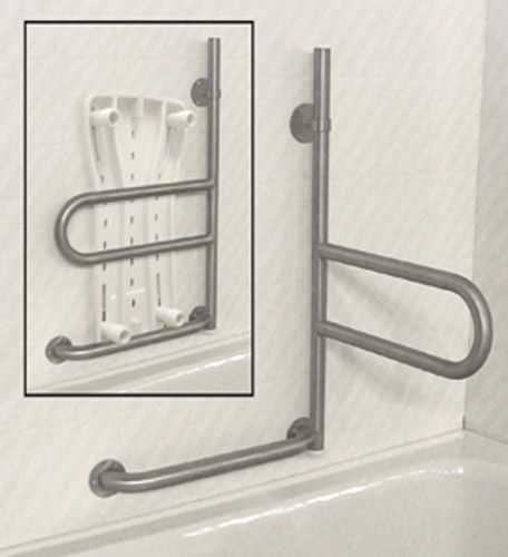 Toilet Grab Bars Safety Handrails the horizontal swivel feature of this grab bar would be perfect