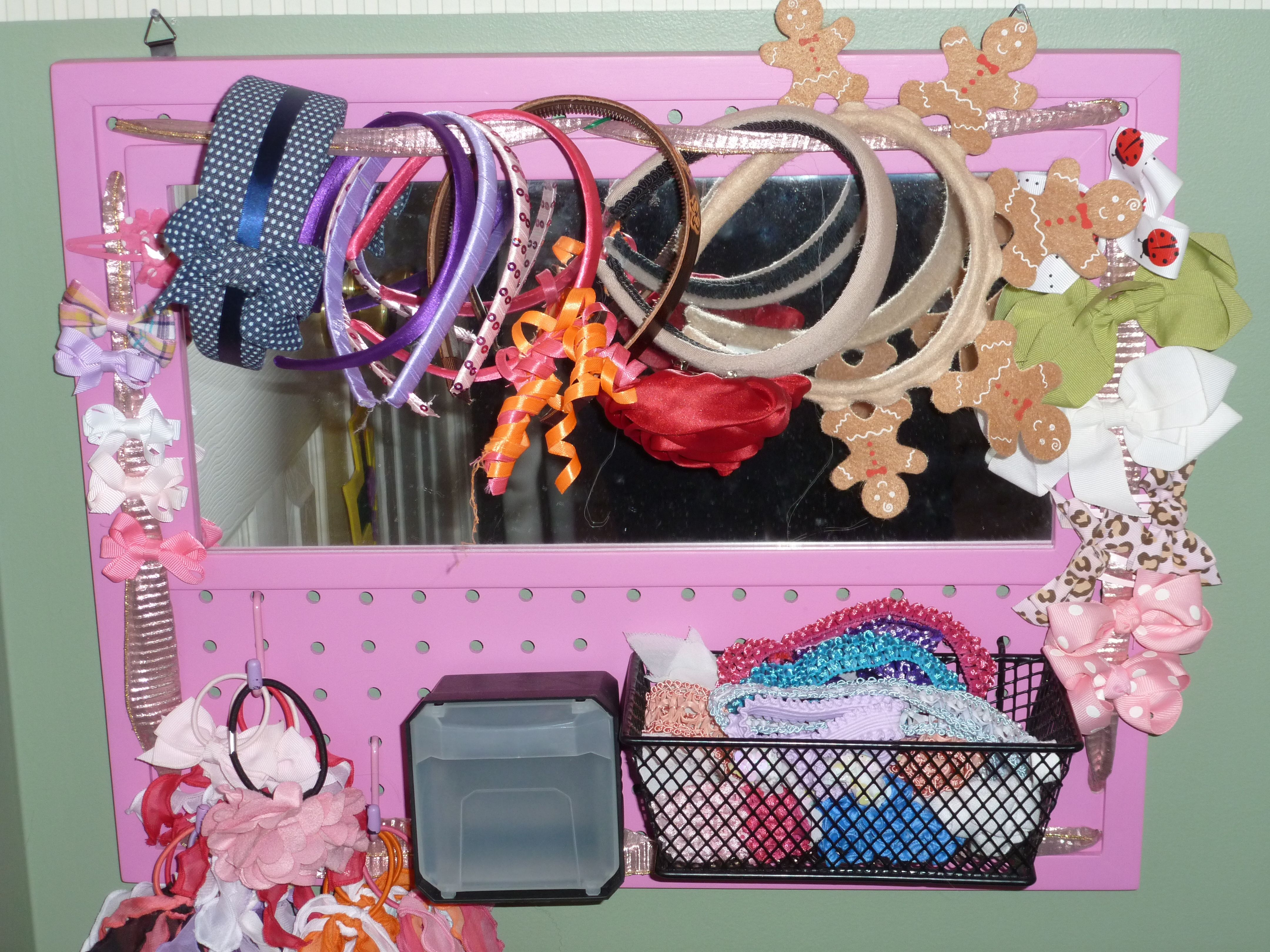 Little girl hair accessory organizer Organizing hair