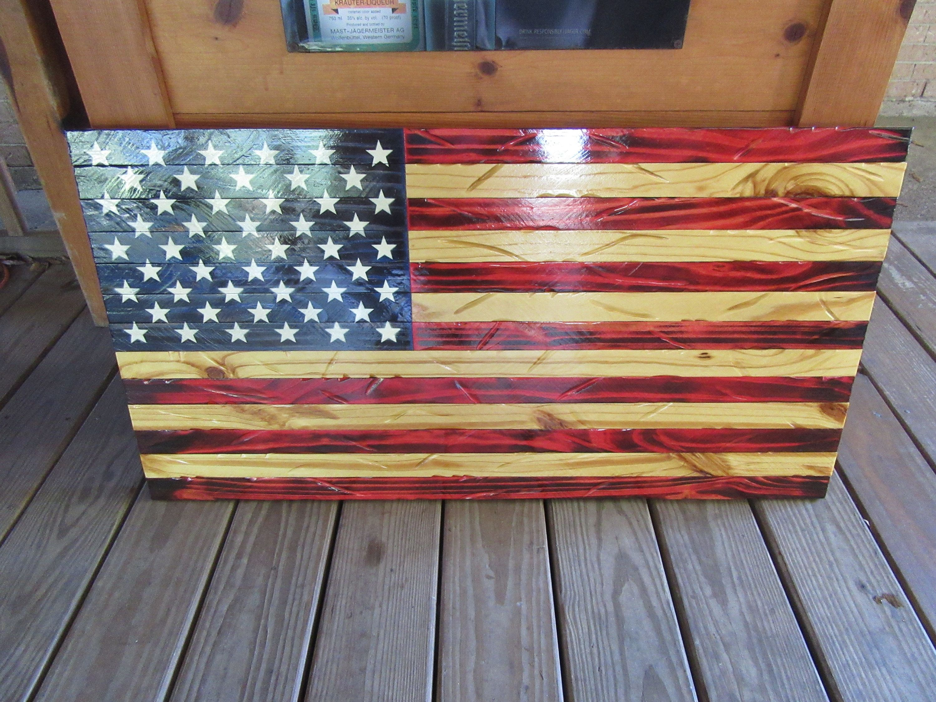 Burned Wood American Flag Wall Art Metaldisorder 20 X 37 Red White Blue U S A Labor Day Sale By Meta American Flag Wall Art American Flag Wood Red Wood Stain