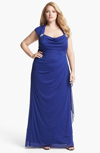Xscape Ruched Gown (Plus) available at #Nordstrom | Wedding ...