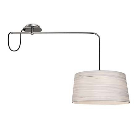 plafonnier magma chrome et blanc lauri lumi res 175 d port 88cm luminaires pinterest. Black Bedroom Furniture Sets. Home Design Ideas