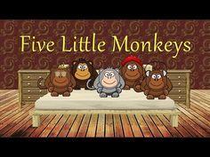 Nursery Rhyme Five Little Monkeys Free Mp3 Audio Singing Bell
