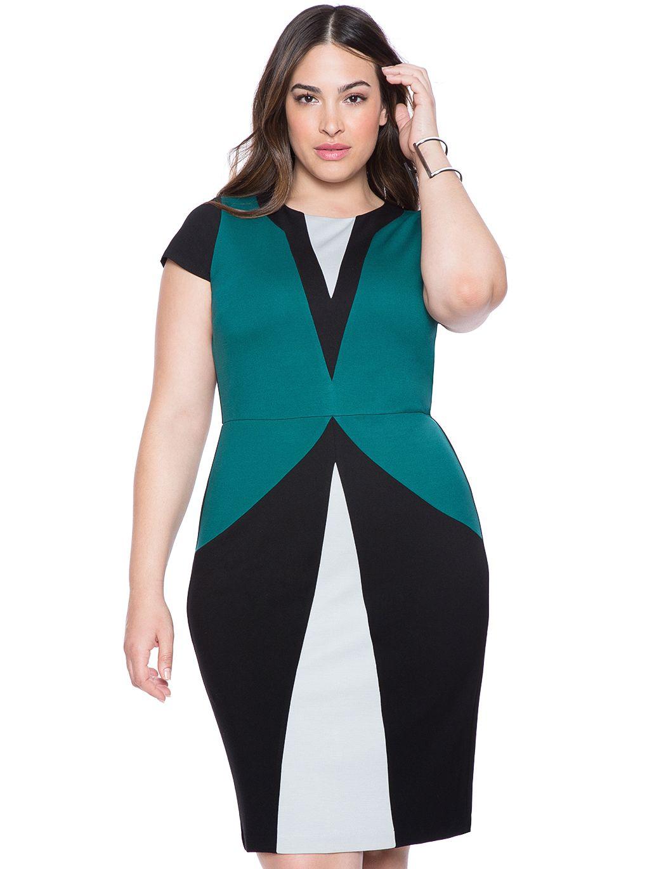 Maggie Colorblock Dress Womens Plus Size Dresses Eloquii