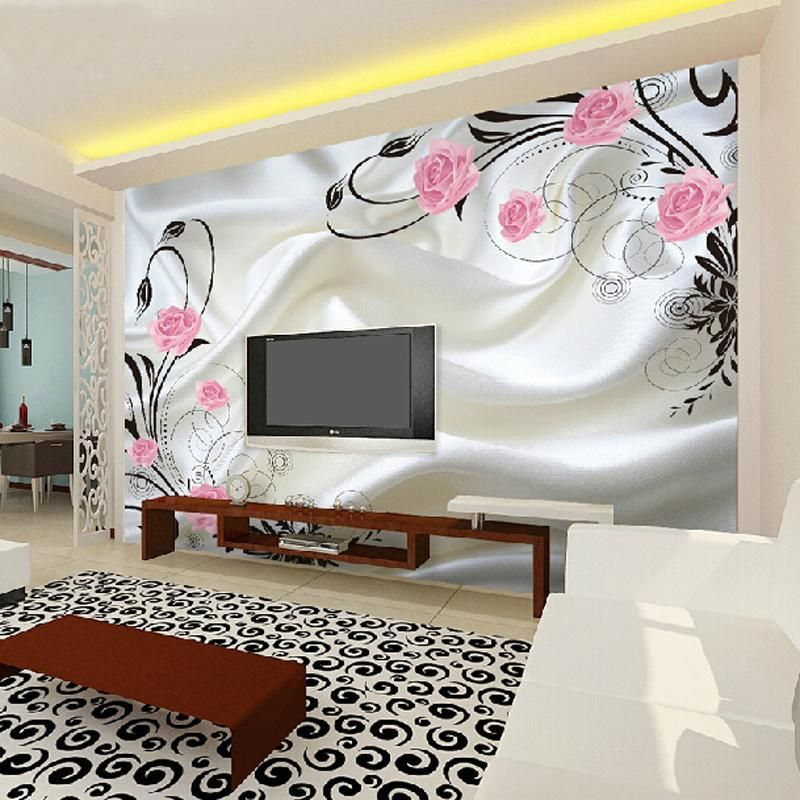 Great Wall 3d Large Chinese Floral Damask Wallpaper Murals For Walls